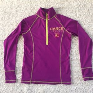 DANCE WORLDS 1/2 zip athletic pullover